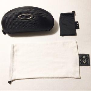 Oakley Sunglasses Case, & White Sunglasses Pouch